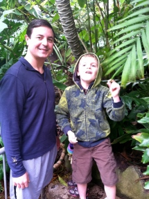 In a rain forest at the zoo