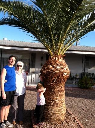 With Grandma Carol in Mesa, AZ